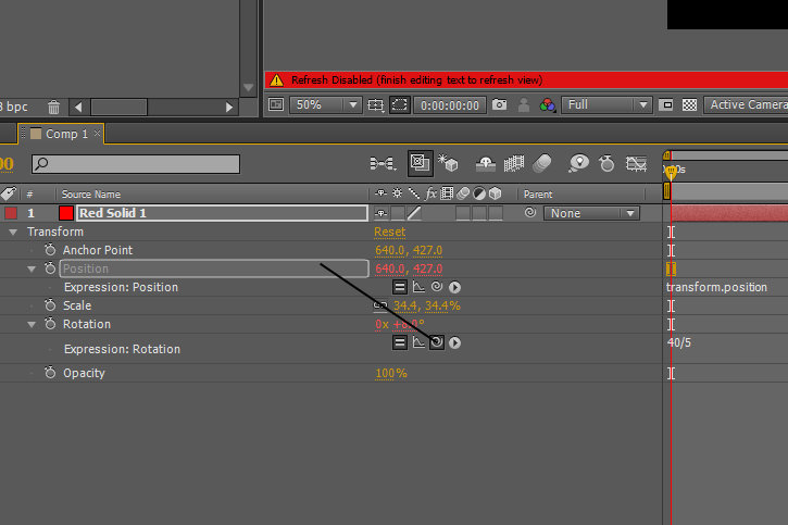 how to have an after effects layer change position